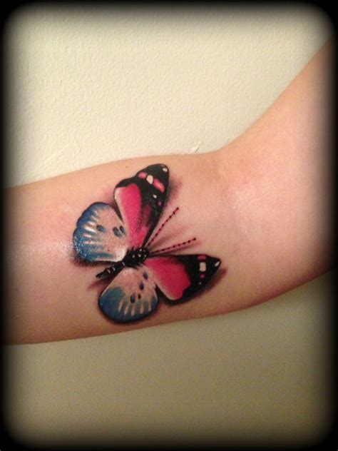 realistic butterfly tattoo realistic pink and blue butterfly 3d realistic 3d