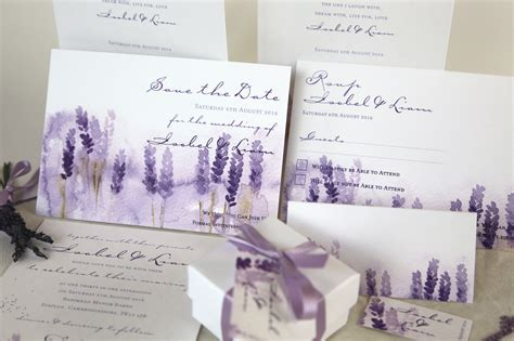 Wedding Invitations Lavender by Lovely Lavender Wedding Ideas With Ellenivy