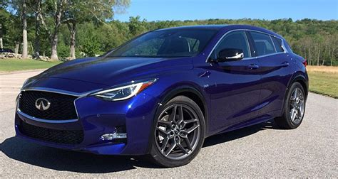 infinity car blue 2017 infiniti qx30 suv has international flair consumer