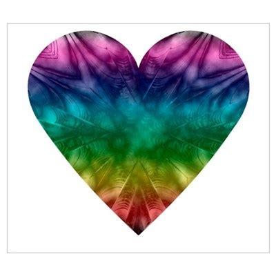heart pattern tie dye tie dye rainbow heart poster
