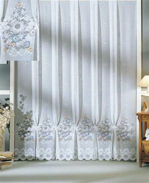 stores gardinen jacquard store gardine mit blumen motiv airbrush sch 246 ner