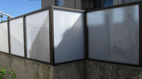 Plexiglass Fence Wall Extensions Plexiglass Fence Modern Fence Design