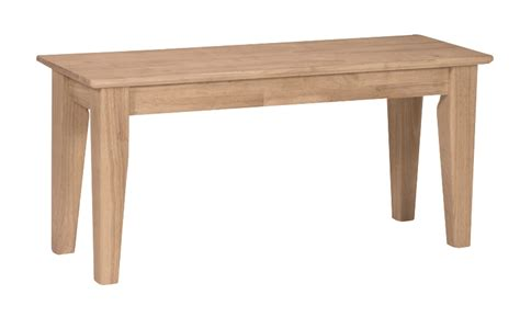 shaker bench seat shaker bench stark wood unfinished furniture stark wood