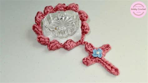 cruz artesanal a crochet paso a paso youtube decenario artesanal a crochet en punto popcorn paso a