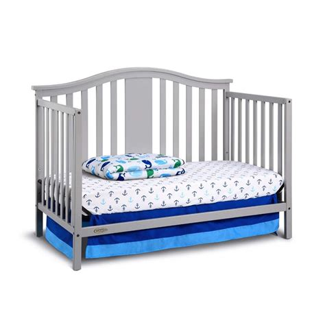 Graco Crib Mattress Size Graco Solano 4 In 1 Convertible Crib With Mattress In Pebble Gray 04526 51f