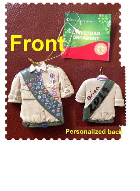 what to get an eagle scout for christmas personalized eagle scout ornament eagle ornaments and