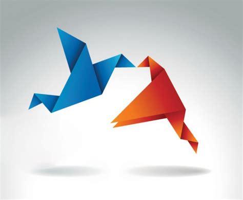 Origami Blue Bird - origami blue bird orange scaricare vettori gratis