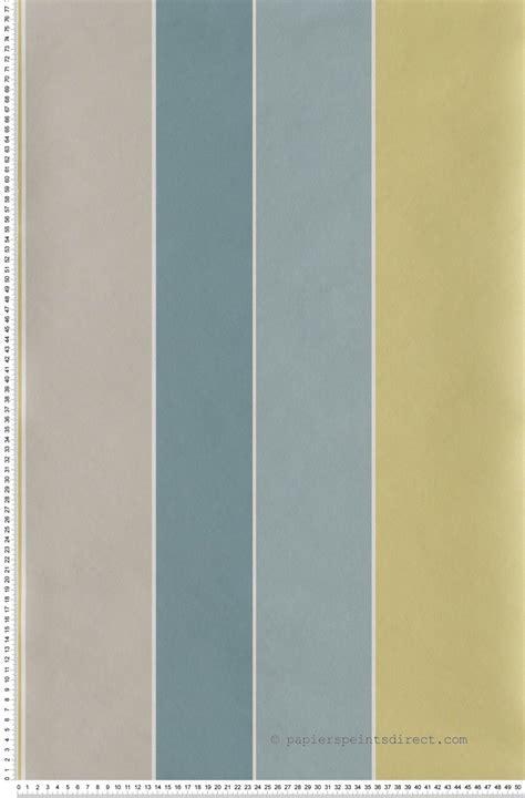 Tapisserie Rayures by Papier Peint Rayures Larges Irr 233 Guli 232 Res Bleu Jaune Et