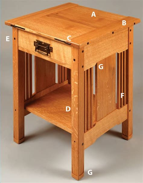 Mission Style Nightstand Plans mission style nightstand plans woodworking projects plans