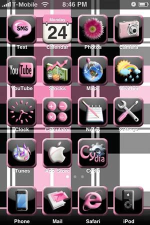 pink themes for iphone pink iphone themes