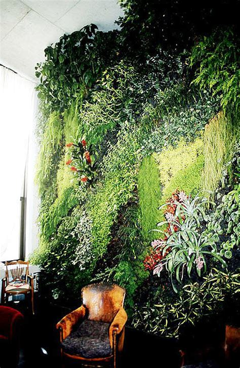 How To Make Vertical Garden Indoor Living Wall Blanc Vertical Garden The Gorgeous Daily