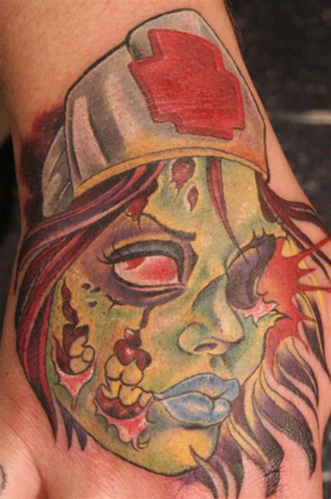 hot zombie tattoo 20 gruesome zombie tattoos damn cool pictures