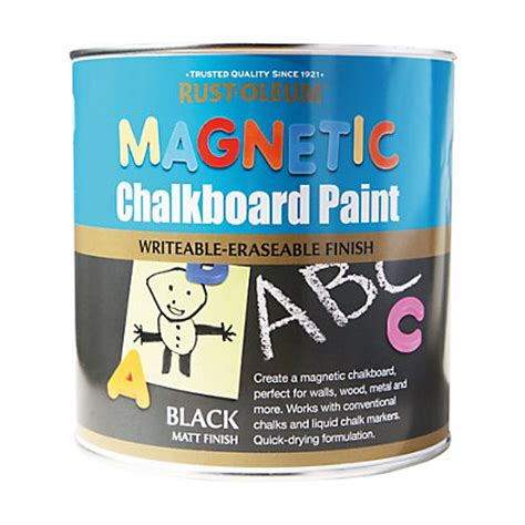 chalkboard paint black rust oleum black magnetic chalkboard paint 2 5l