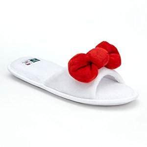 hello spa slippers earth therapeutics hello bow aloe slip