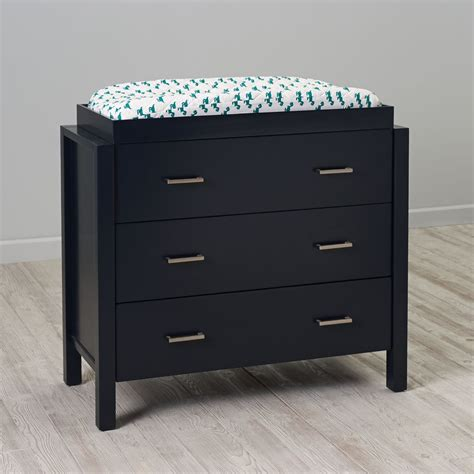 Black Changing Table With Drawers Uptown 3 Drawer Changing Table Navy The Land Of Nod
