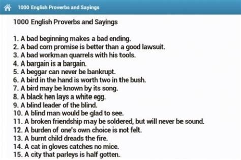 Download proverbs and sayings for android appszoom