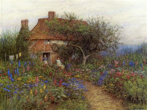 paintings of cottages a cottage near brook witley surrey date unknown painting