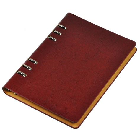Leaf Notebook faux leather office business a5 leaf notebook