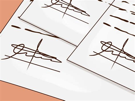 ejemplos de firmas 3 ways to forge a signature wikihow