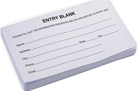 entry form pads generic layout forms   sheets
