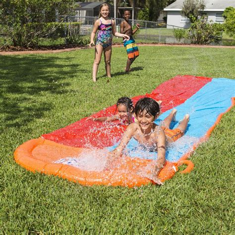 backyard slip and slide water slide backyard inflatable double slip and slide pool