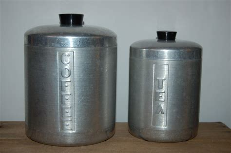 Vintage Kitchen Canisters Vintage Kitchen Canister Set Retro Canister Retro Kitchen