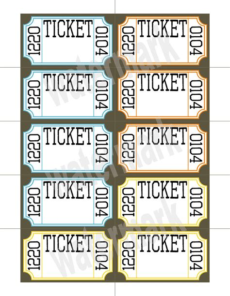 Printable Ticket Ticket Printable Search Results Calendar 2015