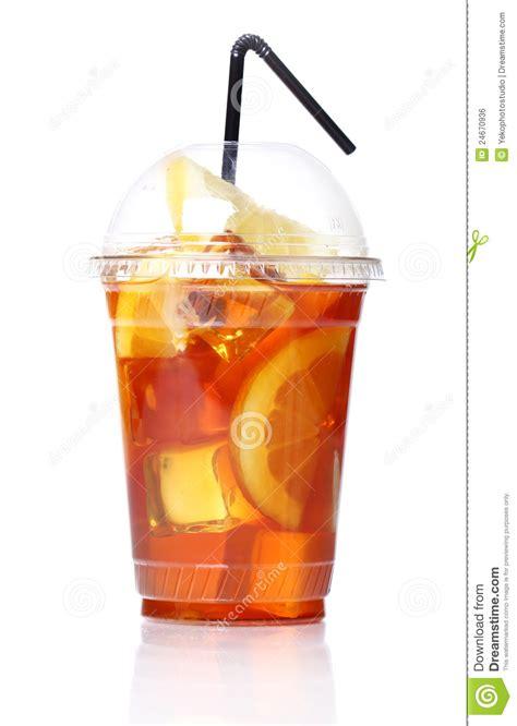 Gelas Plastik Tea fresh tea in plastic glass stock photo image 24670936
