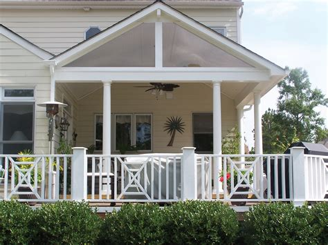 Covered Front Porch Plans | this gabled roof lends clean design lines in this covered