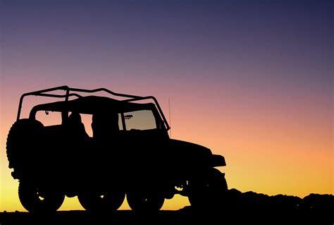 jeep sunset jeep silhouette against sunset by matt harris photo