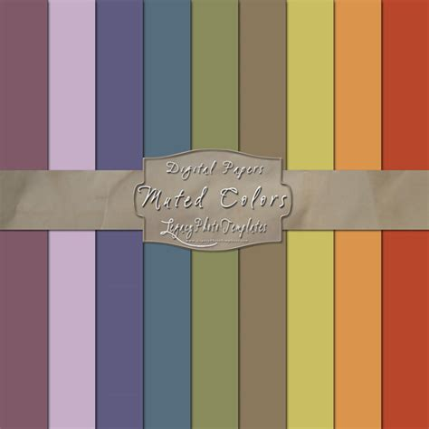 muted color 14 muted colors scrapbook paper pack