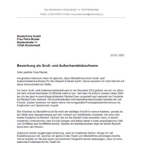 Initiativ Bewerbung Kaufmann Bewerbung Als Kaufmann Im Gro 223 Und Au 223 Enhandel Kauffrau