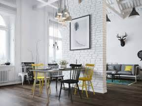 Small modern loft in prague with scandinavian style decor