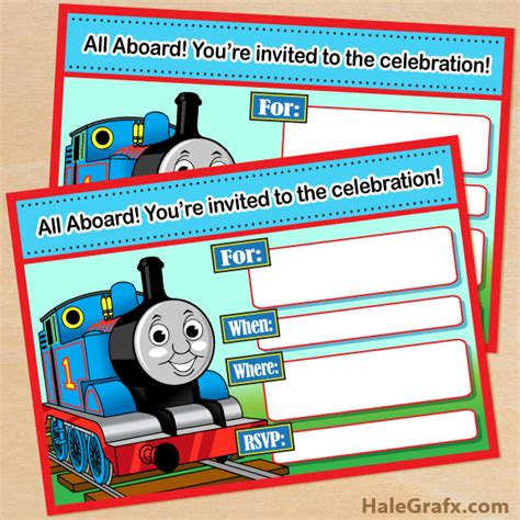the tank engine template free printable the tank engine birthday invitation