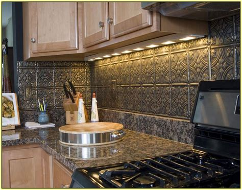 Kitchen Backsplash Stainless Steel Tiles metal subway tile backsplash home design ideas