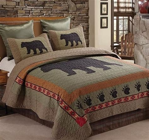 Lodge Quilts Bedding by Rustic Black Southwest Aztec Lodge Or King