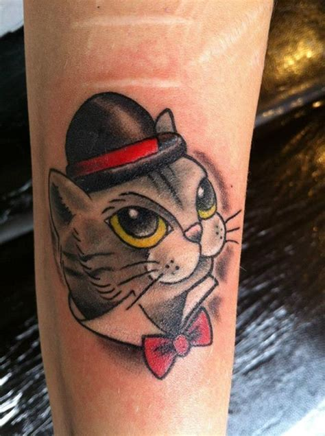 neo traditional cat tattoo neo traditional animal tattoo flash formal cat tattoo by