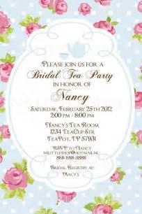 bridal shower quot tea quot invitations tea invitation card customize