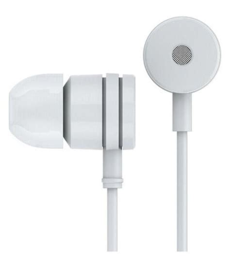 e comfort e comfort unique 464 in ear wired earphones with mic white