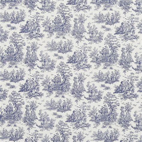 toile upholstery fabric navy toile pastoral cotton printed upholstery fabric by