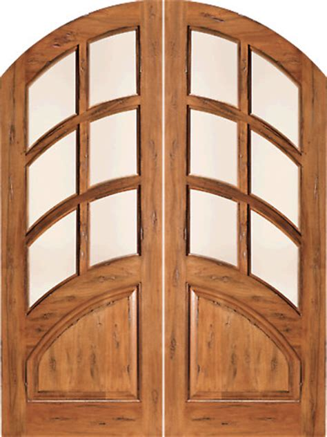Best Insulated Exterior Doors Rs 1135 Arch Top 6 Lite Dual Insulated Glass Rustic Solid Entry Tdl Door Mediterranean