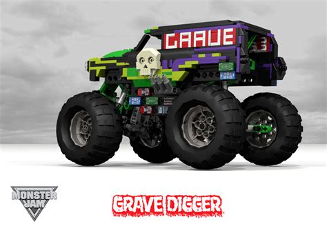 new grave digger monster truck grave digger chevrolet 1950 panel van monster truck flickr