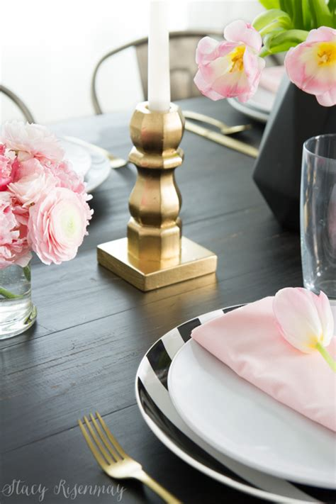 Pink And Gold Table Setting by Valentine S Day Table Setting Risenmay