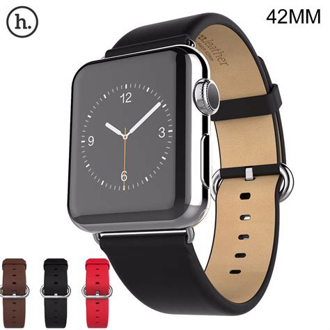 apple 42mm band hoco genuine original premium soft leather replacement wrist classic