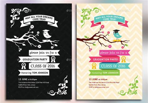 graduation card templates 7 graduation invitations free editable psd ai