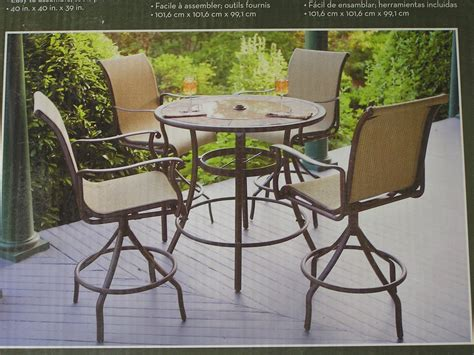 Outdoor Patio High Chairs Patio Table Set Patio Design Ideas