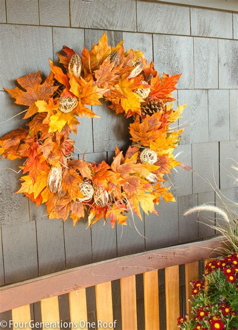 how to make a fall leaf wreath four generations one roof