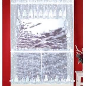 Snowman Curtains Kitchen Anns Home Decor And More Snowman Snowflakes 36l Tiers Swag Lace Kitchen Curtains