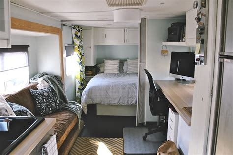 rv renovation ideas travel trailer remodel 9