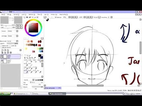 cara gang membuat video tutorial cara membuat wajah anime tutorial youtube